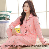 High Quality Cotton Long-Sleeved Ladies Pajamas