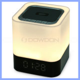 Bluetooth LED Touch Speaker with Clock Alarm Supports TF Card / USB /Aux Slots