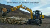 Hot Sale Wheel Excavators with Grab, Breaking Hammer, Rotory Drill