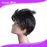 "Black Color 6-36"" Synthetic Hair Wig"