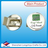 Silver Plated Enamel Die Cast Coin Golf Hat Clip
