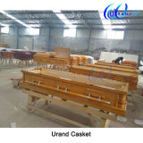 Solid Poplar High Gloss Velvet Interior Wholesale Coffin and Casket