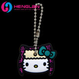 Promotional 3D Enameled Rubber Soft PVC Hello Kitty Key Cover