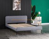 Luxury Modern Hotel Bedroom Furniture King Size Double Fabric Leather Bed Frame