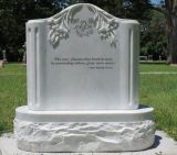 Natural Stone White Granite Tombstone Monument SF-009 for Cremetery Garden