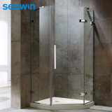 China Diamond Corner Frameless Hinge Swing Tempered Glass Shower Cabin Enclosure