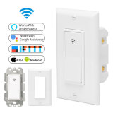 Timethinker Smart Home WiFi Switch in-Wall Timer Wireless Light Power Us Switch Remote Control Work with Alexa Google Home Ifttt