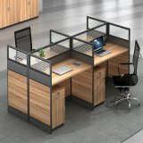 Wooden Furniture Cheap Glass Partition Walls 2/4/6 Seats Office Partitions Workstations Price