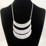 New Item Hammered Zinc Pendant Fashion Jewellery Necklace
