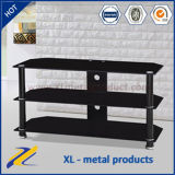 Modern Design Black Metal Glass TV Stand