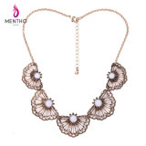 Personality Exaggerated Fan-Shaped Flower Lady Sweater Chain Necklace Jewelry