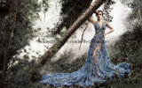 Sheer Lace Prom Party Gowns Sequins Maternity Photograph Evening Dresses Z222