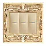 Gold Plated High Quality Forged Brass Power Wall Switch