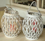 Customized Eco-Friendly Garden Hanging Wicker Lantern with Irovy Color