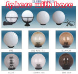 PC Polycarbonate Clear Globes with Light Base for Christmas Tree