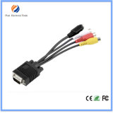 1.5m 3FT VGA to 3RCA Cable, AV to VGA, Video Cable