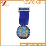 Custom High Quality Medal Badge with Ribbon (YB-LY-B-12)