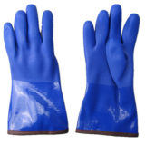 Fully Acrylic Lining Blue PVC Winter Work Glove