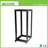 Solid Welded Frame IP20 Open Rack Floor Standing Network Cabinet