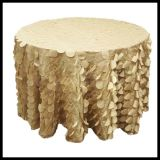 Wedding Taffeta Circle Lace Fabric for Chair Table Decorative Table Cloth Fabric