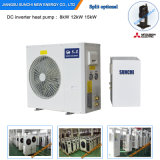 Sweden -25c Winter Floor Heating 100~350sq Meter Room 12kw/19kw/35kw Auto-Defrost Evi DC Split Heat Pump Water Heater