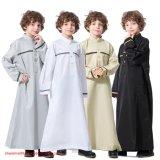 Boy Long Sleeve Stand Collar Robe Arabian Muslim Ethnic Thobe Costume