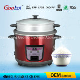 Red Color Stainless Steel Rice Cooker with Double Pots and Steamer