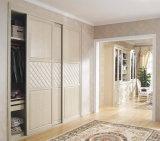Modern Design Bedroom Furniture Melamine Wooden Sliding Door Wardrobe