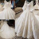 Lace Bridal Ball Gown Custom 3/4 Sleeves Custom Stock Wedding Dresses 2018 We12