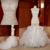 New Design Sexy Pearls Bridal Dress Mermaid Wedding Gowns Z13076