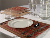 Durable Cheap Hotel Ribbed 100% Cotton Placemat