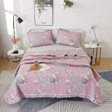 Non-Pilling Polyester Filling Bed Quilt Comforter Set with Lace