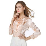Elegant Women Satin Shirt Blouse