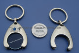 Soft Enamel OEM Logo Trolley Coin Holder Metal Keychain