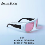 Adjustment Laser Safety Glasses Laser Eye Protection ATD 740-850nm for Cheap Medical Equipment Laser, Alexandrite Laser, Hair Removal Hair Removal