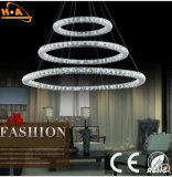 Silver Restaurant Lamp Rround Crystal Lamp Bedroom Pendant Lamp