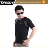 Esdy Round Neck Short Sleeve Men T-Shirt Outdoor