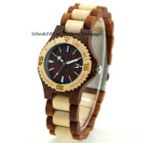 Women′s Wood Watch with Date, Two Tone Color