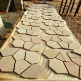 Golden Natural Stone/Sandstone Tile for Swimming Pool Coping/Pool Paving