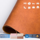 PVC Artificial Leather for Sofa Stocklot, PVC Leather for Furniture and Bag Stock