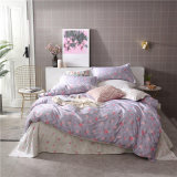 Competitive Price Lovely Pink Colorful Printed Bed Duvet Cover Sheet Bedding Set