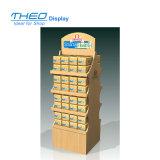 Popular Free Standing Wooden 4 Tier Display Rack for Brand Display