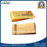Gold Plated Money Clip with Enamel Logo