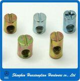 Galvanized Steel Slotted Cross Hole Furniture Barrel Dowel Nut