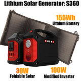 Mini Home Backup Powerstation Portable off-Grid Solar Powered Generator 100W