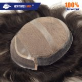 Customized Injected Human Hair Lace Frontal Men's Toupee