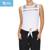 Cheap Tie Front Cropped Tank Top Comfortable Gym Workout Clothes