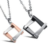 Fashion Couples Necklace 316L Steel Lovers Jewelry Set