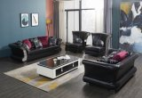 latest Modern European Italian Style Leisure Chinese Divan Living Room Gunine Leather Hotel Porject Customized Size Color Brown Black & White Sectional Sofa
