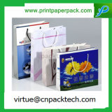 Custom Durable Paper Gift Bag with Your Own Logo Print and Handles Design